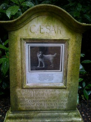 This is a photograph of Caesar's grave at Marlborough House.